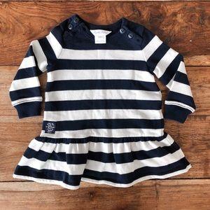 Ralph Lauren Baby Navy & White Striped Dress